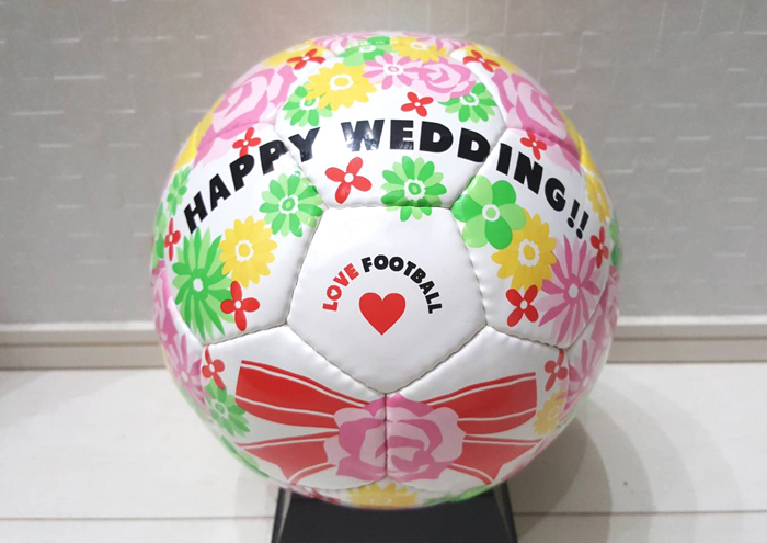 愛知、岐阜、三重、名古屋結婚相談所ブライダルサロンZERO成婚者フットサルボール